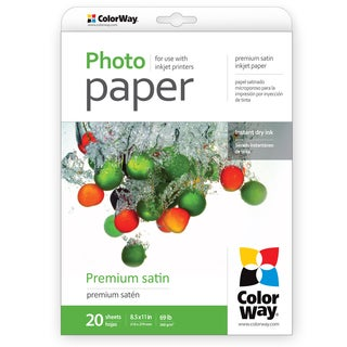 Premium Luster ColorWay Photo Paper 8.5-inch x 11-inch 20sheets