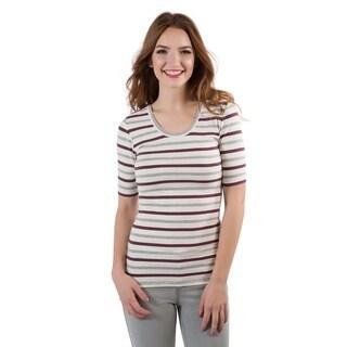 DownEast Basics Women's Striped Half Sleeve T-Shirt