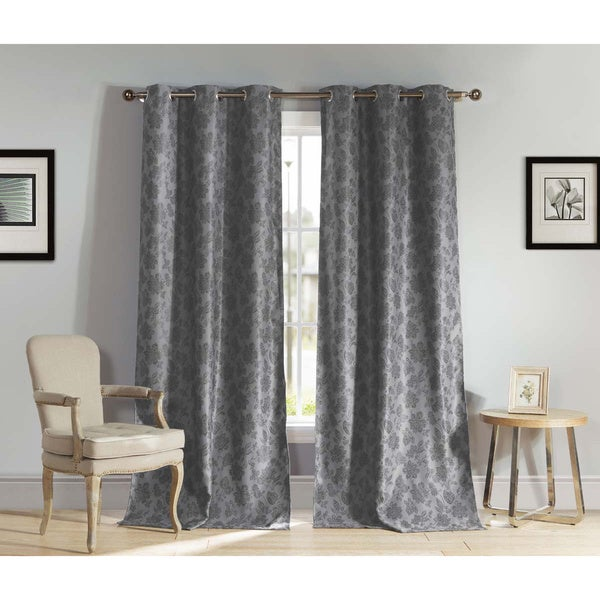 Aeryn 84-inch Blackout Grommet Top Curtain Panel Pair