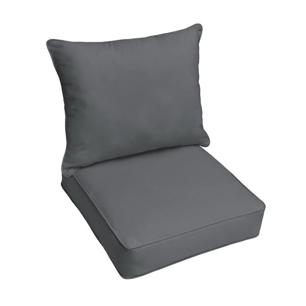 Sloane Charcoal Grey Indoor Outdoor Corded Chair Cushion