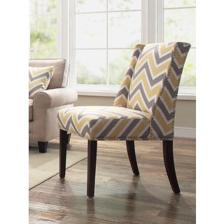 Serta RTA Natori Collection Accent Chair, Tahara Chevron