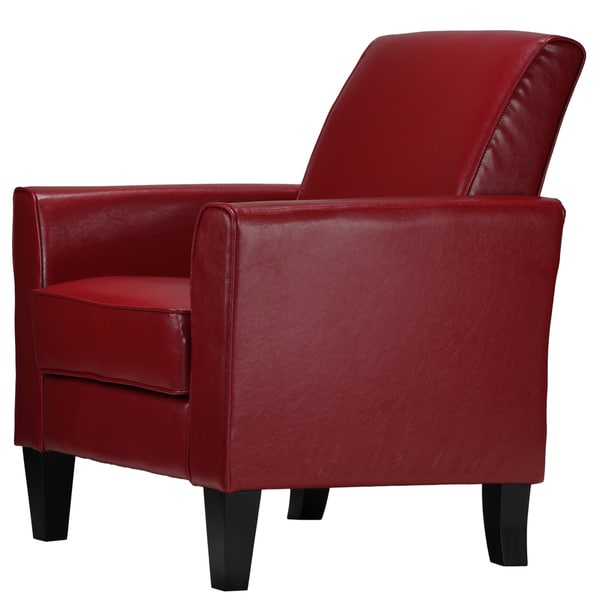 Cortesi home tali red arm accent chair 18326134 overstock com