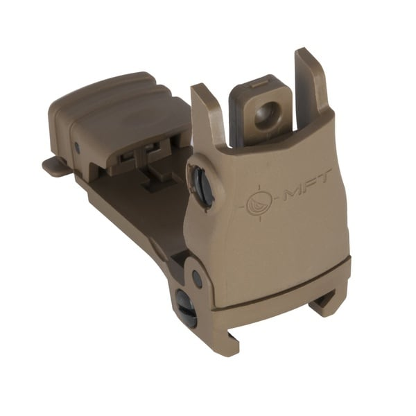 MFT Rear Back Up Sight Flip-Up with Wind Adj