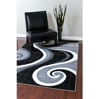 Persian Rugs Modern Trendz Collection Grey Rug (5'2 x 7'2)