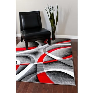 Persian Rugs Modern Trendz Collection Grey Rug (7'10 x 10'6)