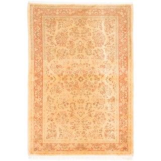 ecarpetgallery Keisari Vintage Yellow Wool Rug (4'7 x 6'8)