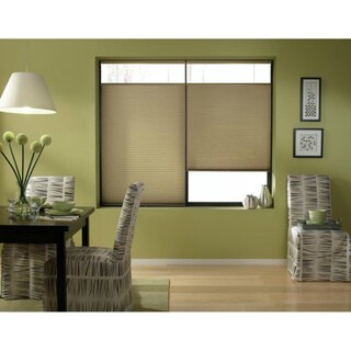 Gold Rush Cordless Top Down Bottom Up 34 to 34.5-inch Wide Cellular Shades