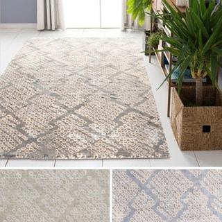 Hand-Loomed Kara Moroccan Trellis Viscose Rug (8' x 11')