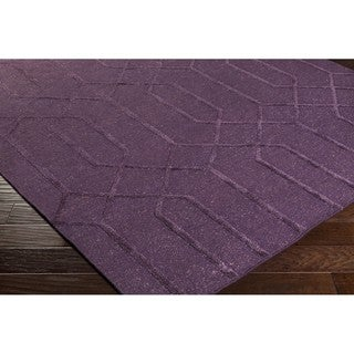 Hand-Knotted Dereham Geometric Indoor Wool Rug (9' x 13')
