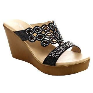 Beston EB01 Women's Rhinestone Platform Sandals