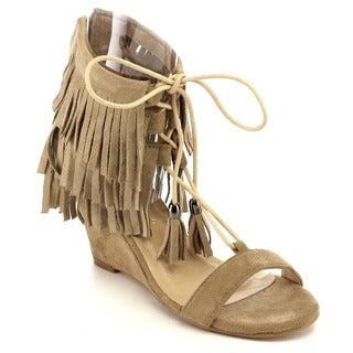 Beston EA97 Women's Fringe Wedge Sandals