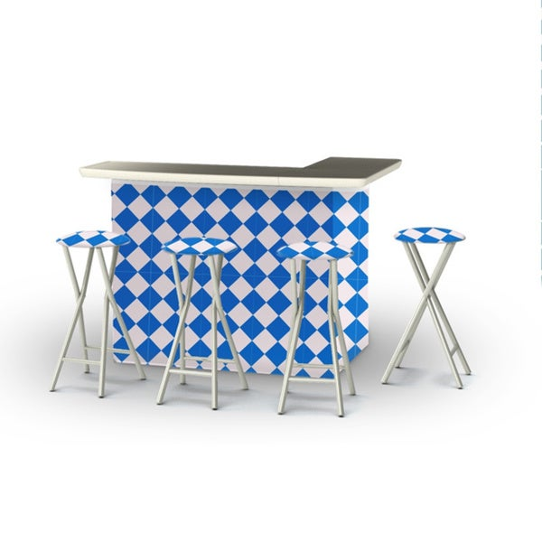 Best of Times Take Me to the Races Portable Patio Bar with Stools