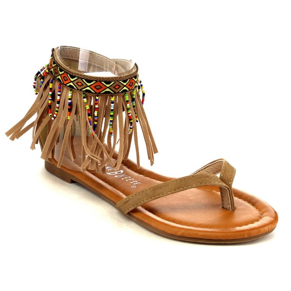 Beston EA90 Women's Beaded Flat Sandals