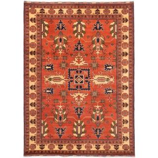 ecarpetgallery Finest Kargahi Brown Wool Rug (7' x 9'8)