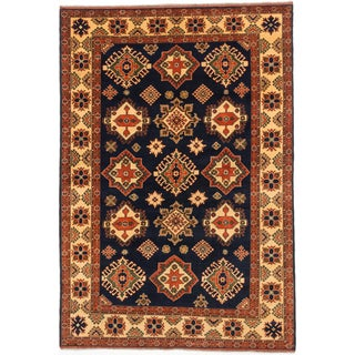 ecarpetgallery Finest Kargahi Blue Wool Rug (6'8 x 9'11)