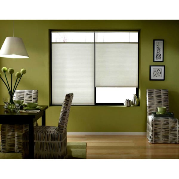 First Rate Blinds Cool White Cordless Top Down Bottom Up 38 to 38.5-inch Wide Cellular Shades 17492837