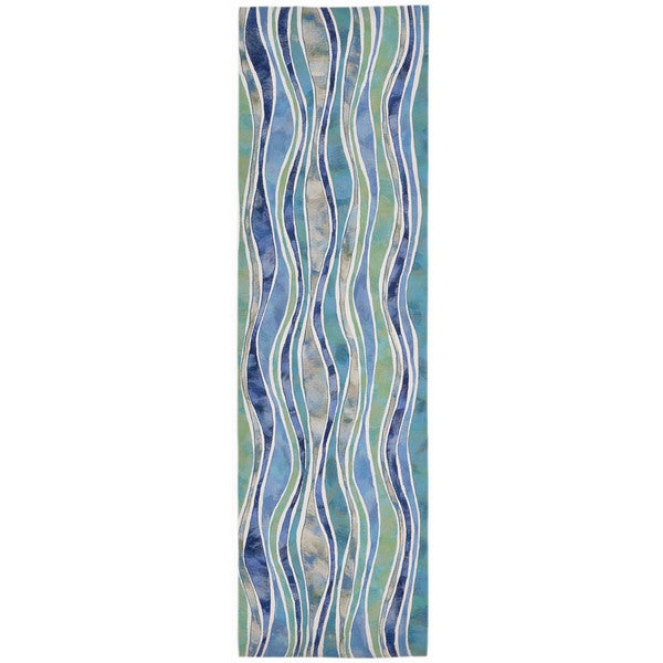 Rolling Wave Outdoor Rug (2'3 x 8)