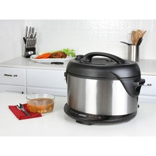 Kalorik Black and Stainless Steel Indoor Electric Pressure Cooker and Smoker