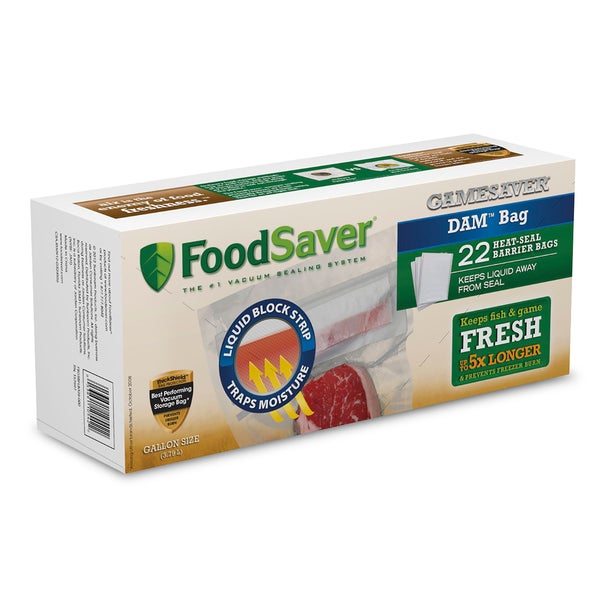 FoodSaver GameSaver DAM Gallon Heat-Seal Bags 22 Count