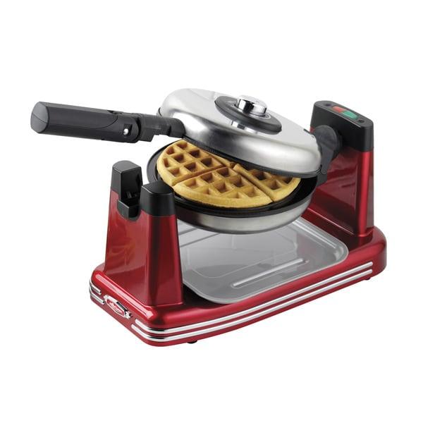 Nostalgia RFW600 Retro Series '50s-Style Nonstick Flip Belgian Waffle Maker