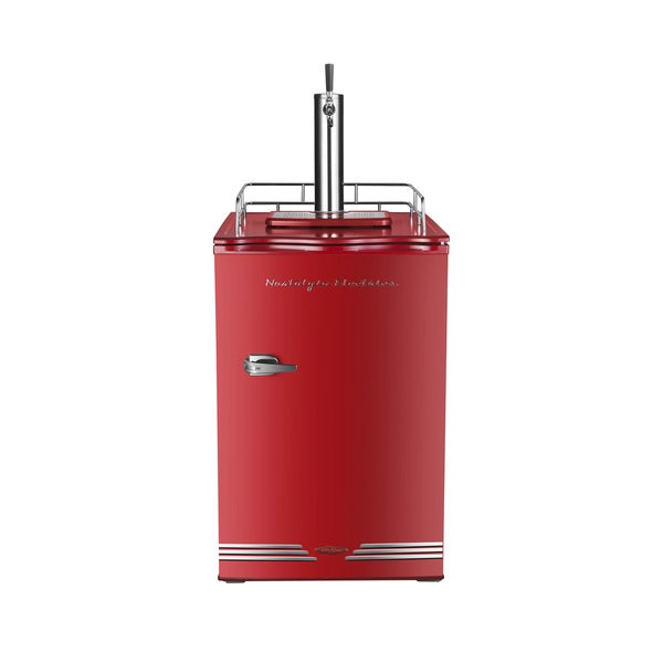 Nostalgia KRS6100RETRORED '50s-Style Single Tap Kegorator