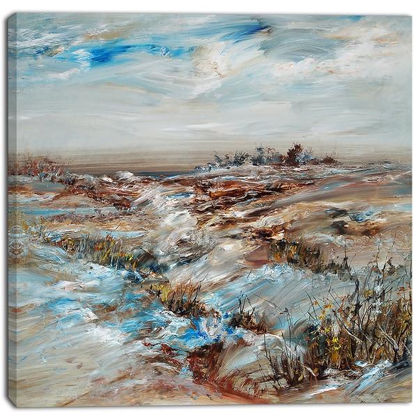 Designart - Snowy Landscape Canvas Artwork