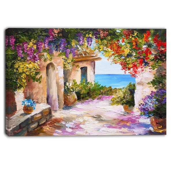Designart - Summer Seascape - Landscape Canvas Art Print