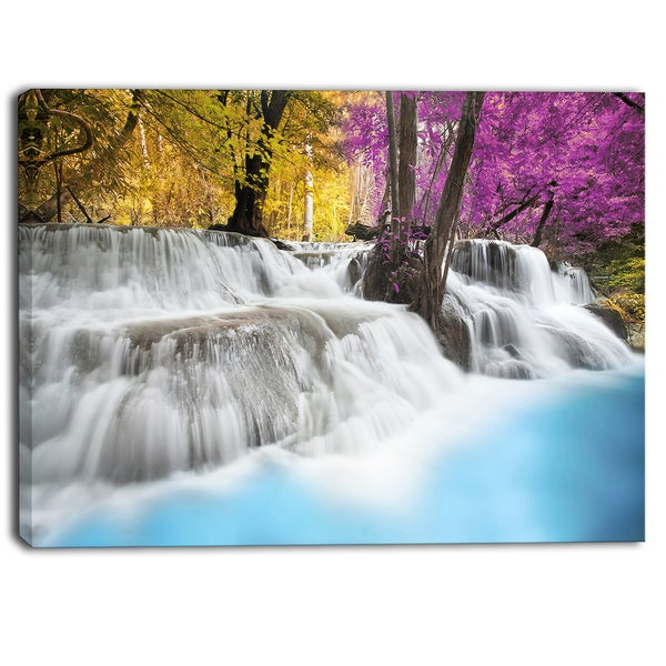 Designart - Erawan Waterfall - Landscape Photography Canvas Print