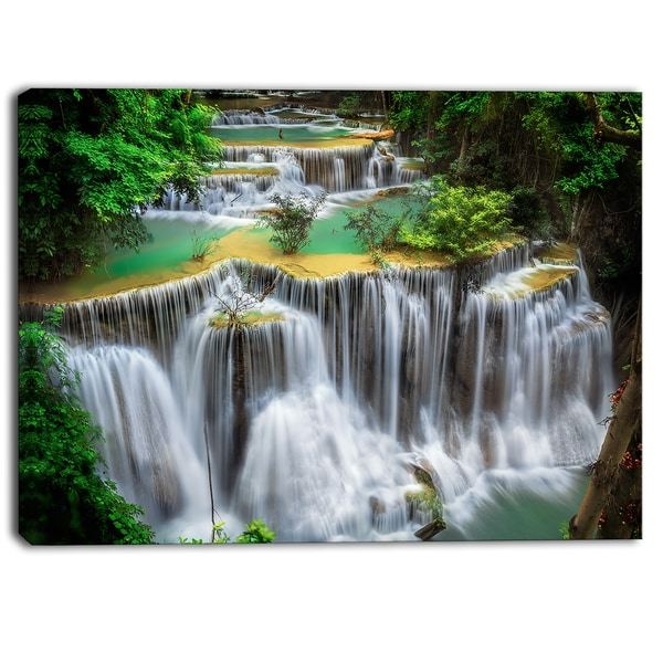 Designart - Huay mae Ka Min Waterfall Photography Canvas Print