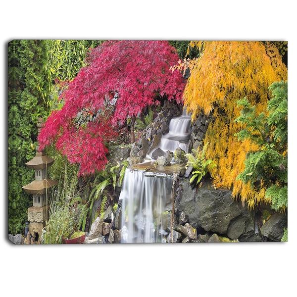 Designart - Japanese Maple Trees Floral Photography Canvas Print