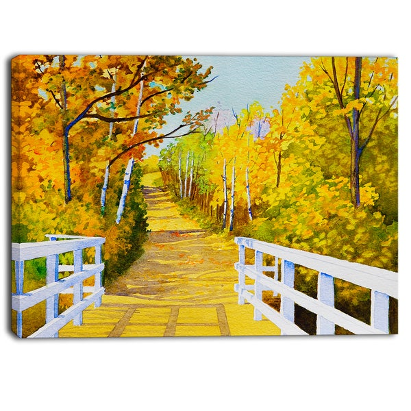 Designart - Parkland Trails Photography Canvas Art Print