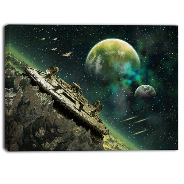 Designart - Alien Planet Digital Artwork Print on Canvas