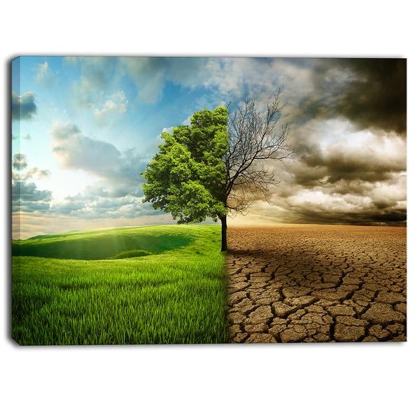 Designart - Global Warming - Landscape Contemporary Canvas Art Print