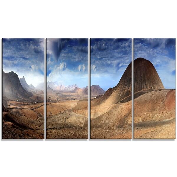 Designart - Mountain Scenery Panorama - 4 Panels Landscape Photo Canvas Print