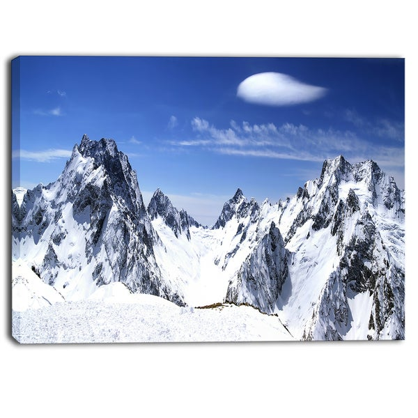 Designart - Panorama Caucasus Mountains Photography Canvas Print