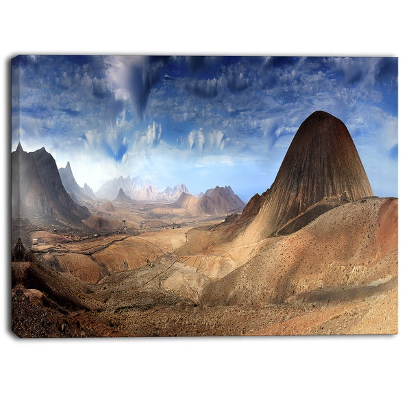 Designart - Mountain Scenery Panorama - Landscape Photo Canvas Print