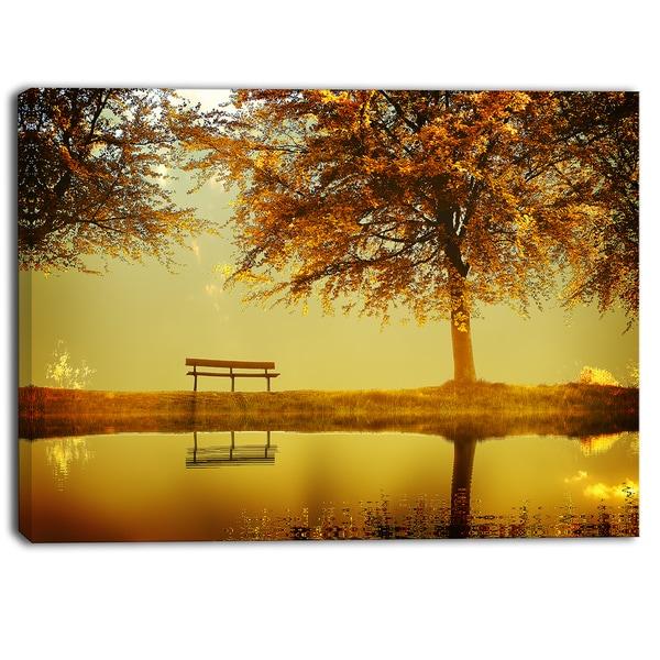Designart - Golden Planet - Landscape Photography Canvas Print