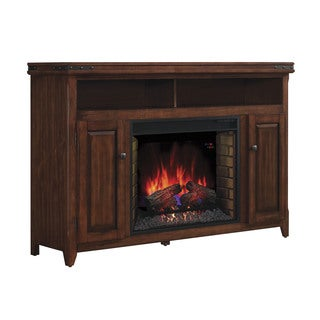 Mayfield TV Stand up to 65-inch with 28-inch Infrared Quartz Fireplace - Cherry