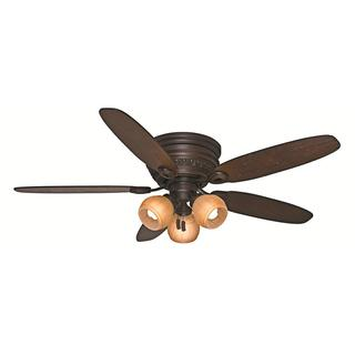 Casablanca Fan Caledonia 54-inch Brushed Cocoa with 5 Distressed Walnut/Smoked Walnut Reversible Blades