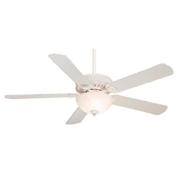 Casablanca Fan Ainsworth Gallery 60-inch Cottage White with 5 Cottage White Blades