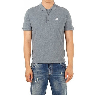 Versace Collection Men's Grey Pique Medusa Polo