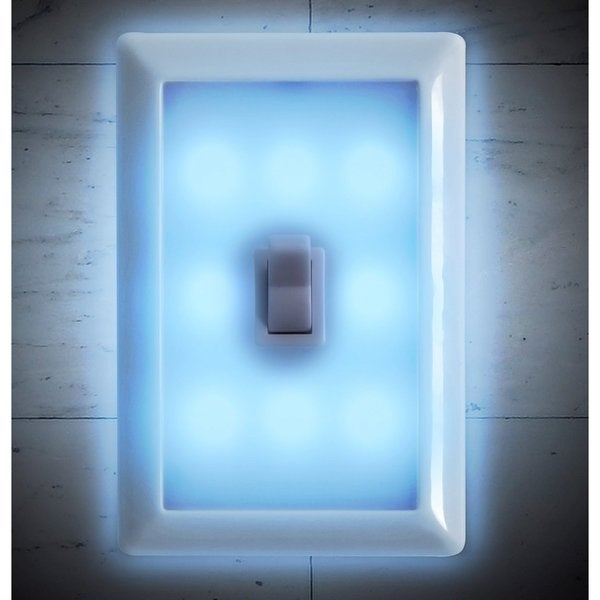 Tech Tools 8 LEDs Battery Operated Night Light Wall Switches (set of 2) PI-8855