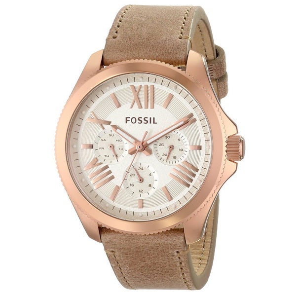 Fossil Women's AM4532 Cecile Rose Goldtone Watch