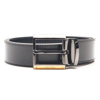 Versace Collection Men's Black Italian Leather Belt
