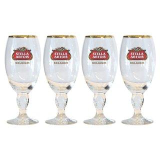 Stella Artois 40 Centiliter Belgium Beer Glasses with Star Chalice (Set of 4)