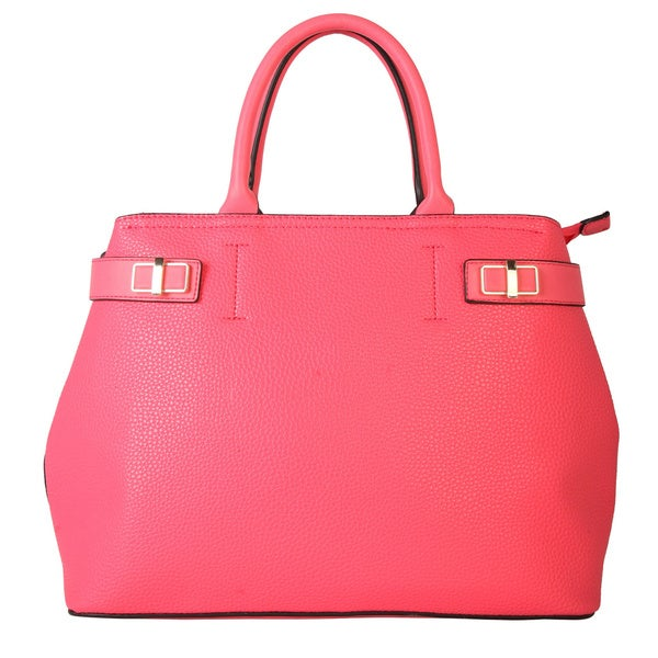 Diophy Fashion Spring Collection Zipper Closure Multiple Pocket Tote Handbag