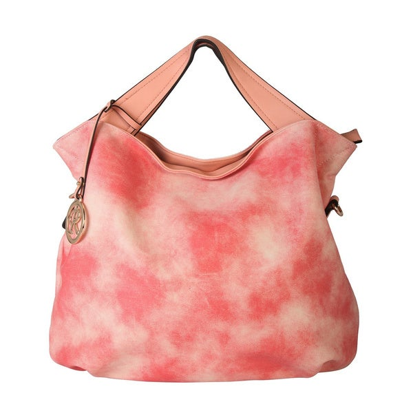 Rimen and Co. Tie-Dye Faux Leather Zipper Closure Hobo Handbag