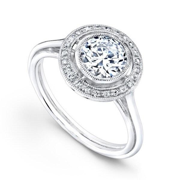 Beverly Kay 18k White Gold 3/5ct TDW Diamond Designer Engagement Ring ( F-G, SI1-SI2)