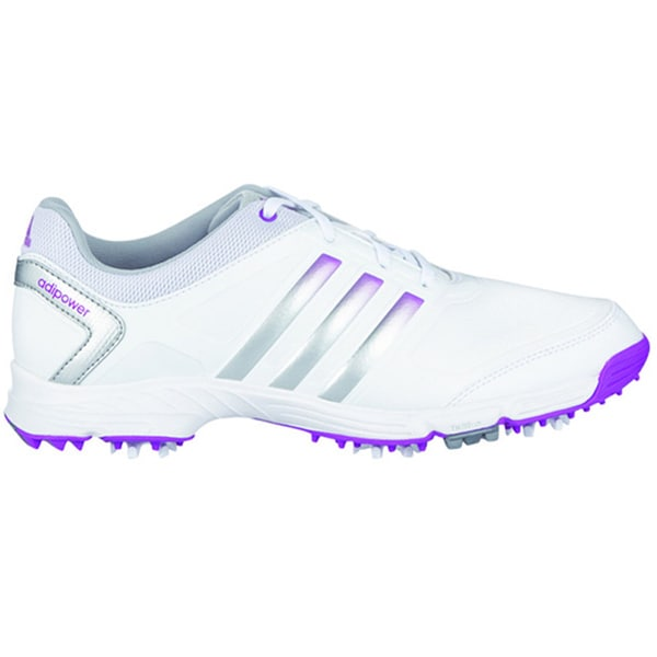 Adidas Adipower TR Golf Shoes 2015 Ladies CLOSEOUT White/Metallic Silver/Flash Pink