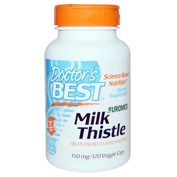 Doctor's Best Euromed Milk Thistle 150 mg (120 Veggie Caps)